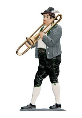 Trombonist standing