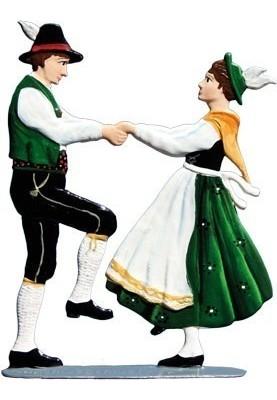 Tanzpaar Hände fassend zum...