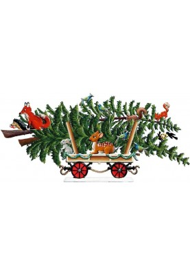 Pewter Wagon with tree 2019...
