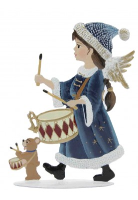Angel with drum standing