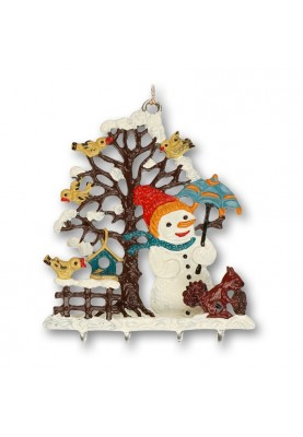 3D Snowman with Squirrel