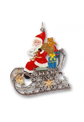 3D Santa Claus sitting on...