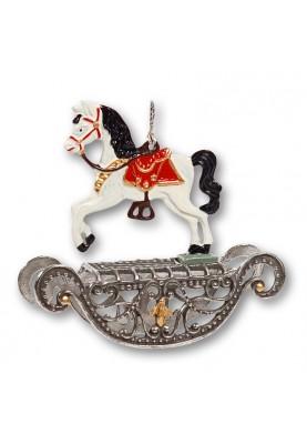 Pewter 3D Rocking Horse