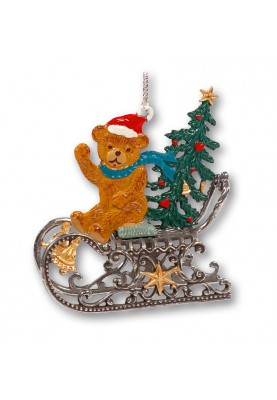 3D Teddy with Tree on Sleigh