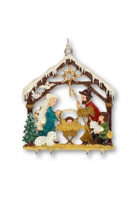 Pewter 3D Nativity with...