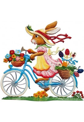 Easter Bunny with Bike...