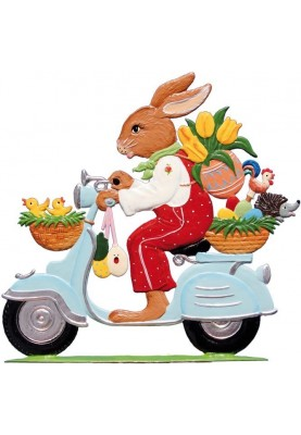 Pewter Bunny on a motor...