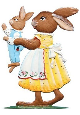 Pewter Bunny Mother with...