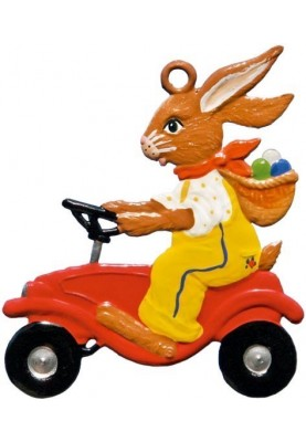 Pewter Bunny with Bobbycar