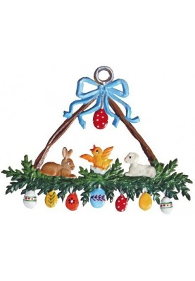 Pewter Easter Wreath Triangle