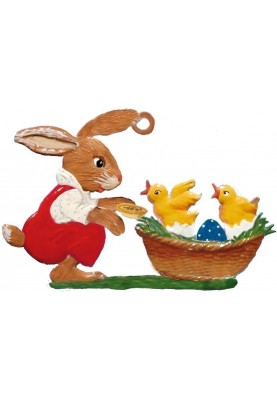 Pewter Bunny with Chicks in...