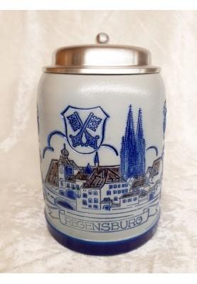 Steinzeug Bierkrug 0,5l...