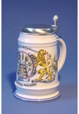 Porcellain Beerstein 0.5l...