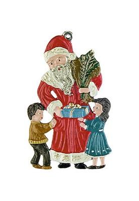 Weihnachtsmann mit Kindern