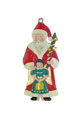 Weihnachtsmann mit Engel