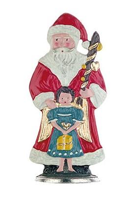 Weihnachtsmann mit Engel zum Stellen