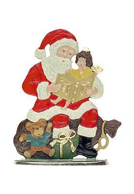 Weihnachtsmann mit Buch zum Stellen