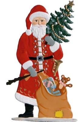 Weihnachtsmann mit Tanne zum Stellen