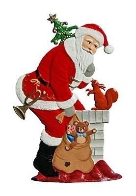 Weihnachtsmann mit Kamin zum Stellen