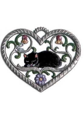 Herz mit Katze klein