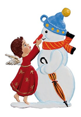 Engel mit Schneemann