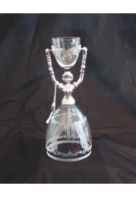 Brautbecher Edeltraud Kristallglas klar HGR5