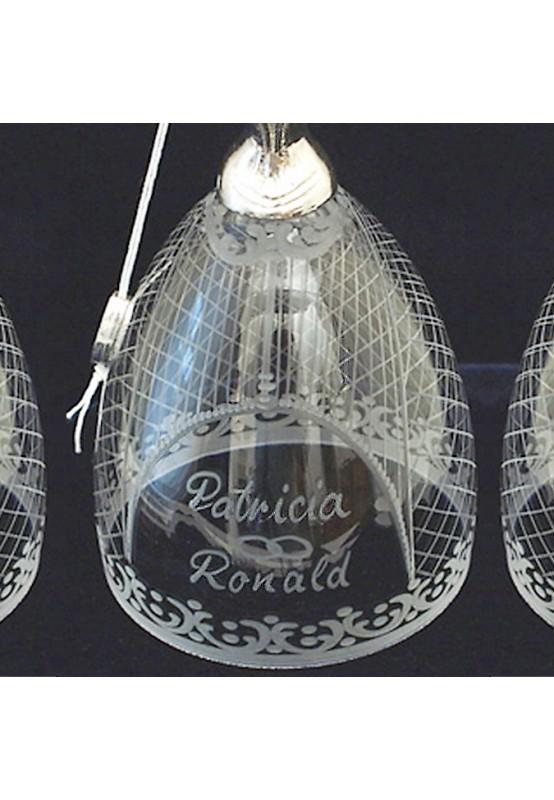 Handgravur für Glas Brautbecher