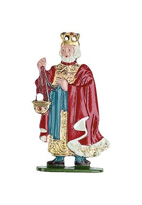 König mit Krone zum Stellen