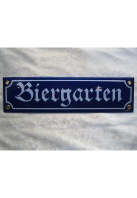 Biergarten Schild Emaille