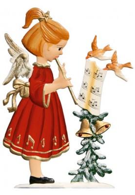 Engel mit Flöte zum Stellen