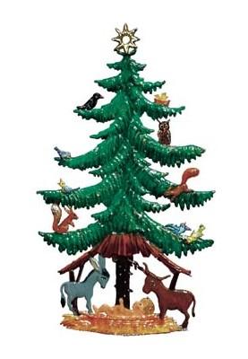 Christbaum mit Tieren zum Stellen