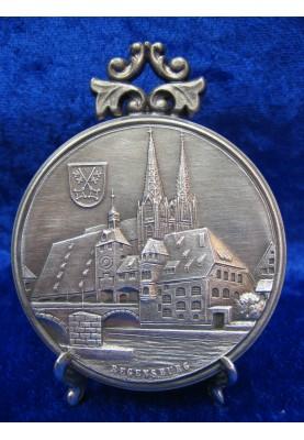 Zinnplakette Regensburg Dom 6,0cm (Ö)