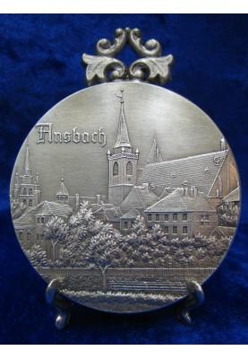 Zinnplakette Ansbach 6,0cm (Ö)