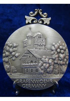 Zinnplakette Grafenwöhr 6,0cm (Ö)