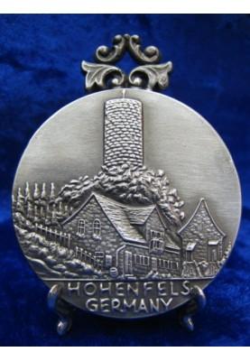 Zinnplakette Hohenfels 6,0cm (Ö)