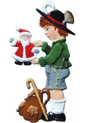 Bayernjunge mit Nikolaus zum Stellen