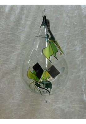 Lichtmühle Tropfen 9,5cm Orchidee grün Ö+H