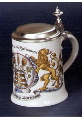 Porzellan Bierkrug 0,5l Hopfen und Malz