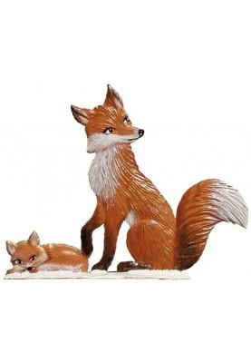 Fuchs Mama/Winter stehend