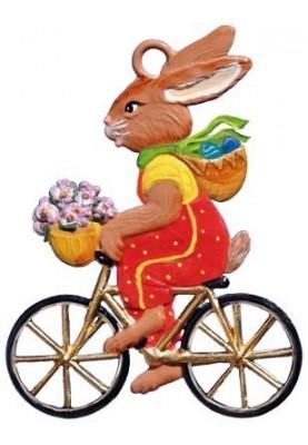 Zinn Hase auf Fahrrad 2016