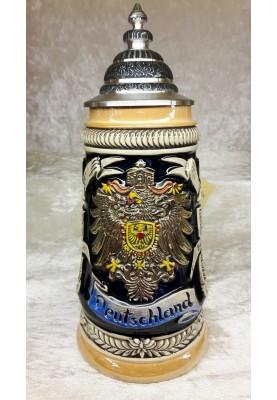 Keramik Bierkrug 1/4l Deutschland Länderwappen