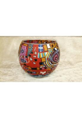 Leuchtglas 11cm Hundertwasser Spirale