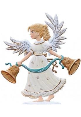 Zinn Engel 2016 mit Glocken zum Stellen