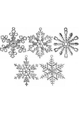 Zinn Eiskristalle Set 5 Stück