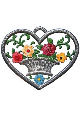 Heart with Flowerbasket small