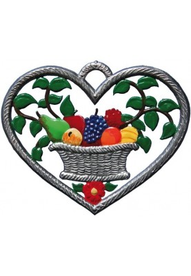 Herz mit Obstkorb klein