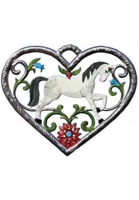 Herz mit Pferd klein
