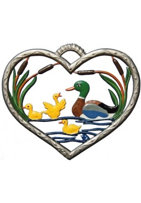 Heart with Ducks small