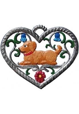 Herz mit Hund klein
