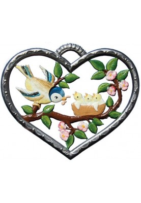 Heart with Birdfamily small